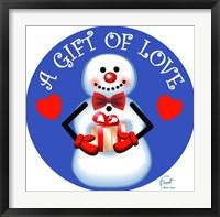 Framed Snowman Gift