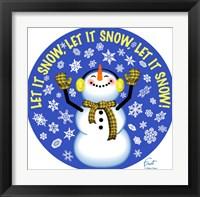 Framed Snowman Let It Snow