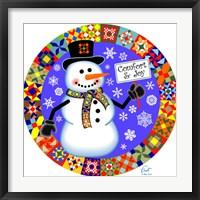 Framed Snowman Quilt 1