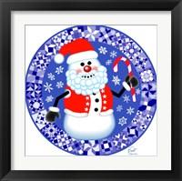 Framed Snowman Santa Quilt