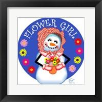 Framed Snow Lady Flower