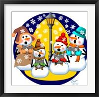 Framed Snowman Choir
