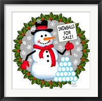 Framed Snowman Snowballs