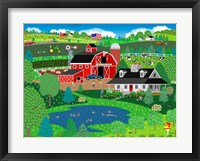 Apple Pond Farm Spring Framed Print