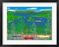 Framed Cruising Lake Tahoe