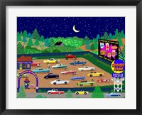 Framed Moonrise Drive-In