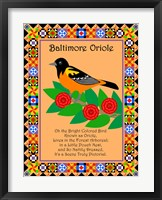Framed Baltimore Oriole Quilt