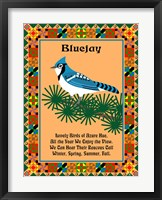 Framed Blue Jay Quilt