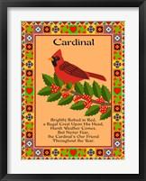 Cardinal Quilt Framed Print