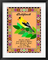 Goldfinch Quilt Framed Print