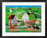 Framed Horse Country