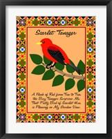Framed Scarlet Tanager Quilt