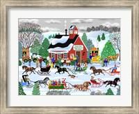 Framed Jingle Bell Sleigh Society