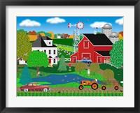 Framed Pleasant Day On The Farm