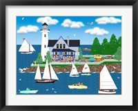 Framed Summer Lighthouse