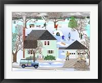 Framed Homestead In Winter