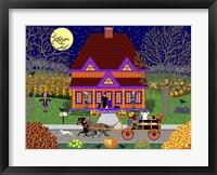 Framed Pumpkin House