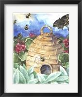Framed Bee And Flower