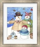 Framed Happy Holiday Snow