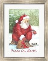 Framed Santa Peace