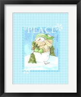 Snowman Joy Framed Print