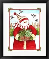 Framed Snowman Gift Basket