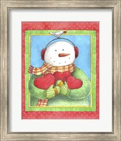 Framed Snowman Give Heart