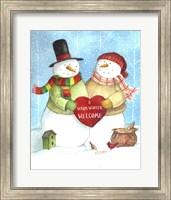Framed Warm Welcome Snowman