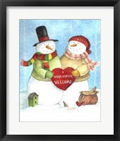 Framed Warm Welcome Snowman