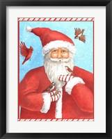 Framed Santas Bird Greeting
