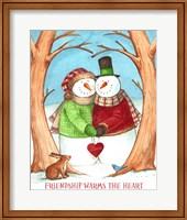 Framed Snowman Tree Heart Share