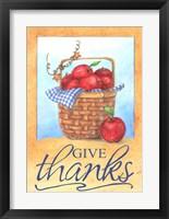 Framed Give Thanks Apple Basket