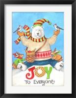 Framed Polar Bear Joy To Everyone