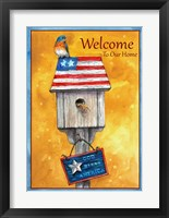 Framed Blue Bird American Welcome