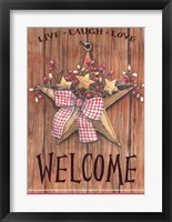 Country Star Welcome Framed Print