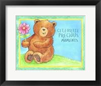 Celebrate Precious Bear Framed Print