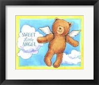 Sweet Angel Bear Framed Print