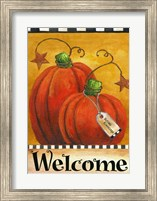 Framed Pumpkin Autumn Welcome