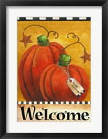 Framed Pumpkin Autumn Welcome
