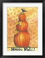 Framed Pumpkins Happy Fall