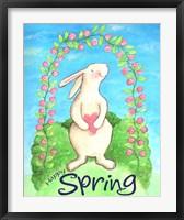 Framed Happy Spring Bunny