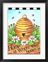 Framed Bee Hive Home