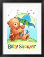 Framed Baby Shower Bear