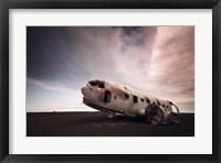 Framed Iceland Plane Wreck
