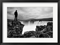 Framed Iceland Waterfall