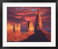 Framed Fiery Castles
