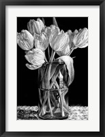 Framed Nine Tulips