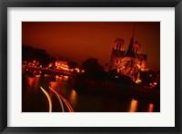 Framed Red Night
