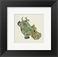 Framed Happy Hippo
