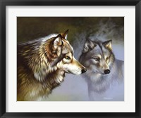 Framed Frost Wolves